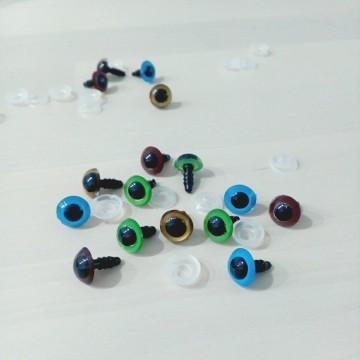 Ojos de seguridad de colores 10mm