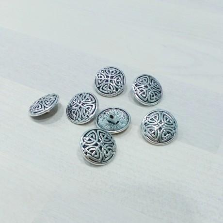 Botones metálicos con motivo en relieve - Plata