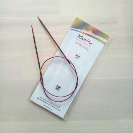 Agujas circulares N2.5 fijas Symfonie Wood de KnitPro