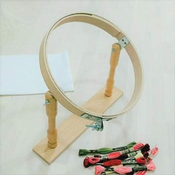 Bastidor de mesa barnizado 25cm
