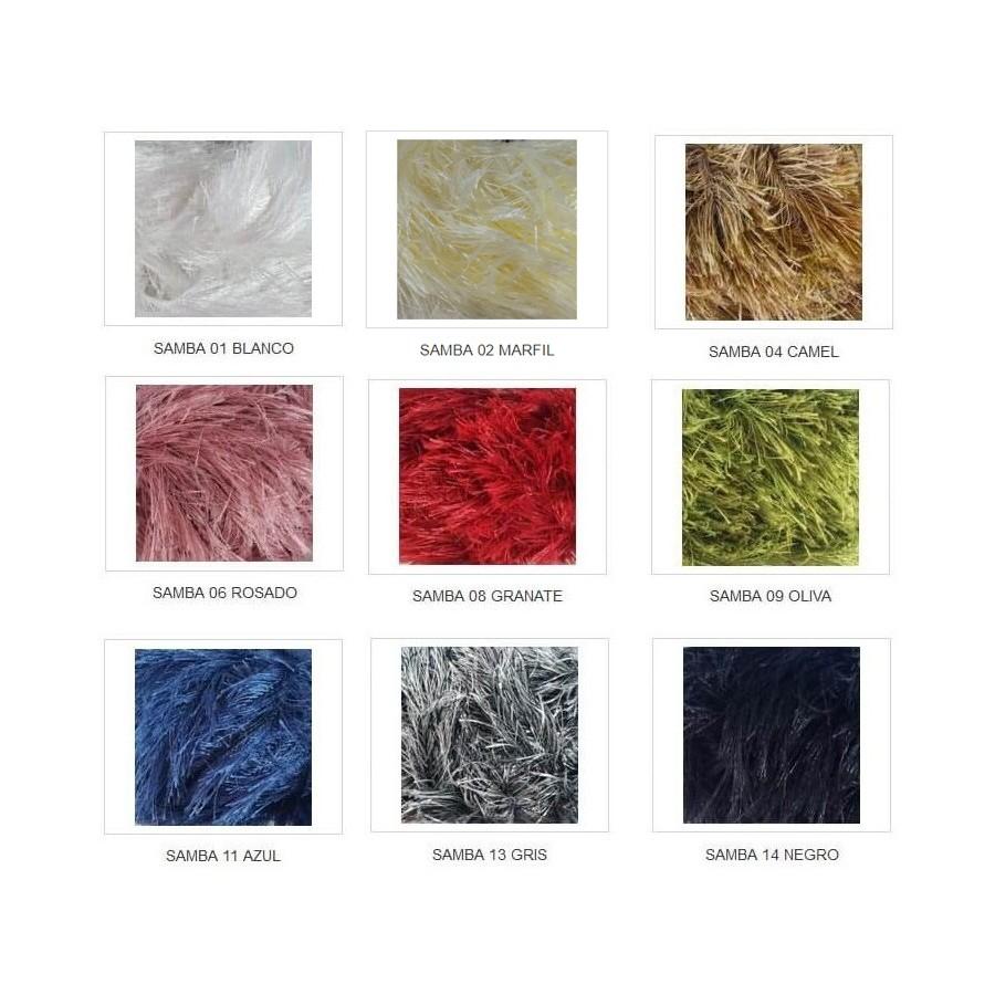 Colores lana con pelo