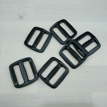 Hebilla negra ajustable para bolsos - Interior 30x10mm