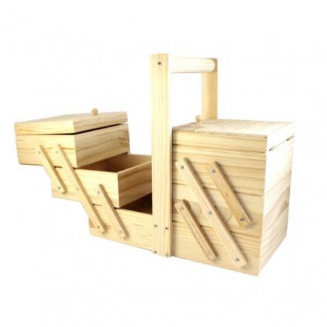 Costurero de madera escalonado