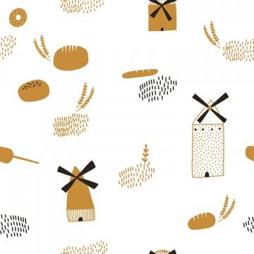 Popelín algodón 100% - Mod. Bread Origin Katia