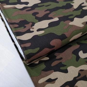 Popelin camuflaje algodón 100% - Desde 25cm