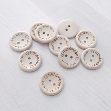 Botón madera Handmade 2cm