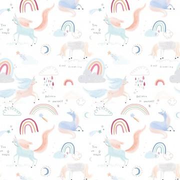 Popelín - Mod. Unicornios Katia (25cm)
