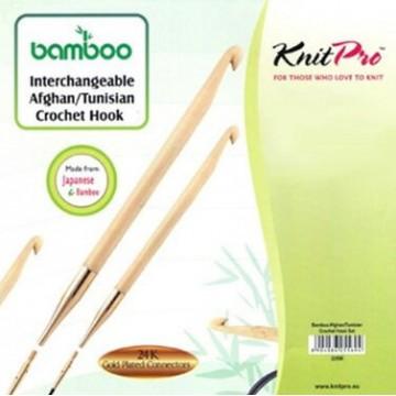 Ganchillo tunecino circular bambú