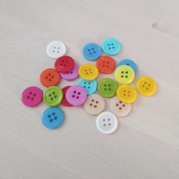 Botones de colores 15mm