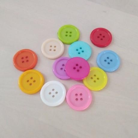Botones de colores 25mm