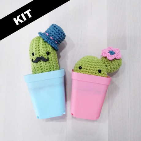 Kit Cactus Paco y Esmeralda