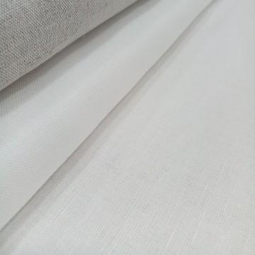 Lino mixto blanco para bordado (1/2 metro)
