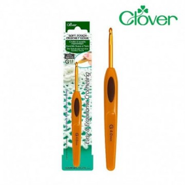 Agujas de Ganchillo suaves al tacto Clover Soft