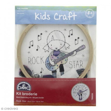 Kit DMC de Bordado para niños - Rock