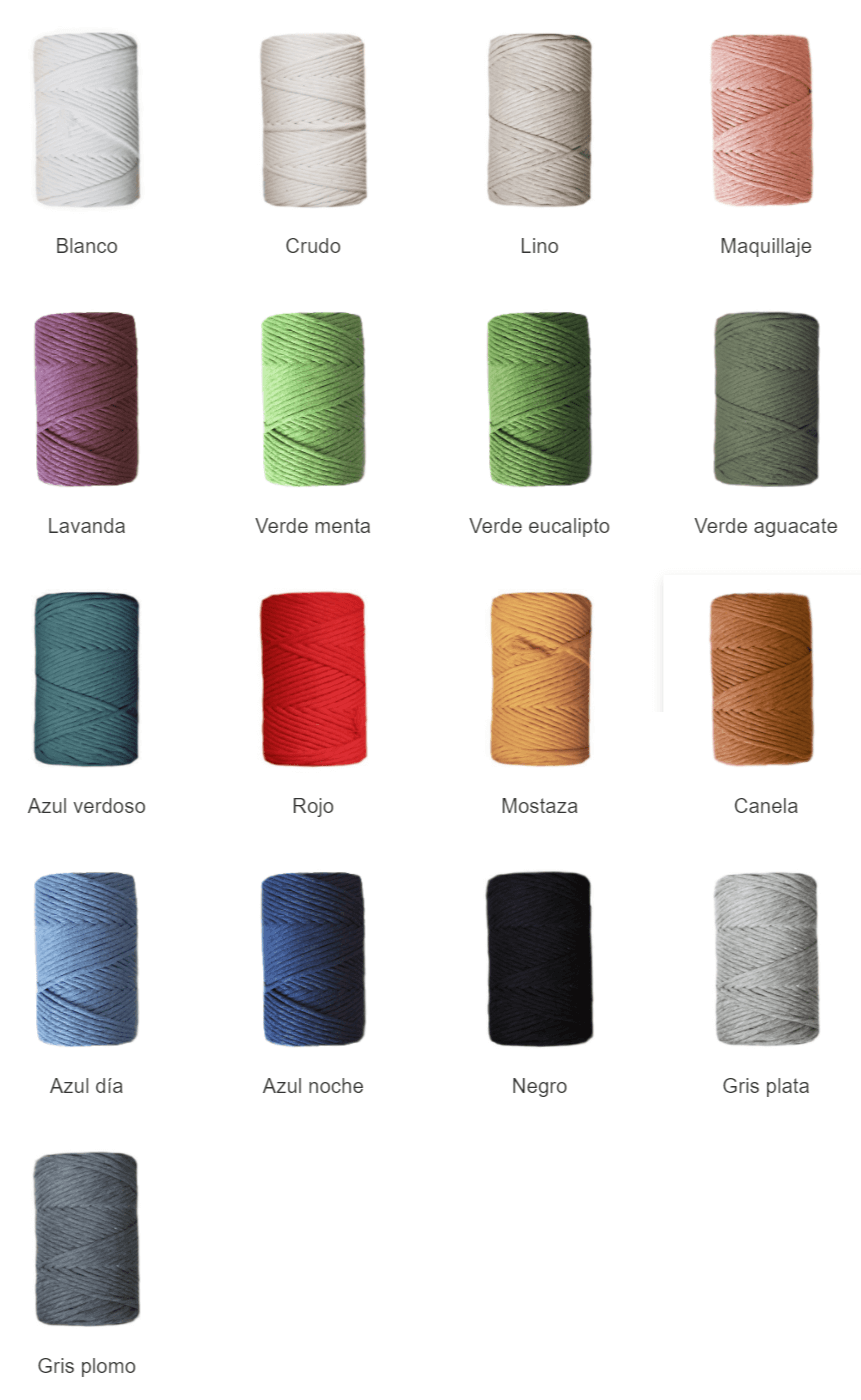 Colores urdimbre para macramé