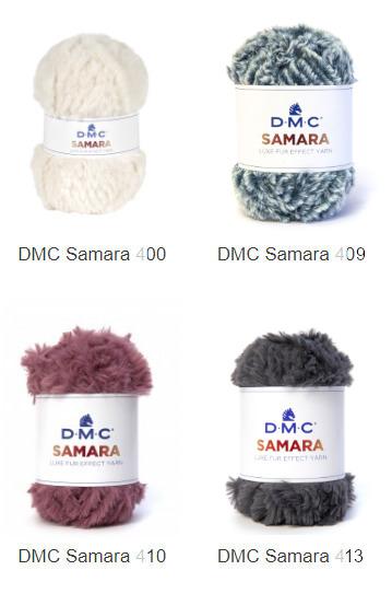 Colores lana polar, lana con pelo Samara DMC