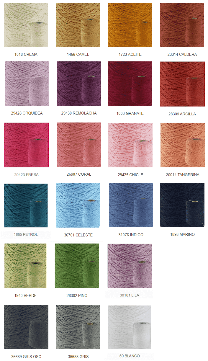 Colores lana vegana