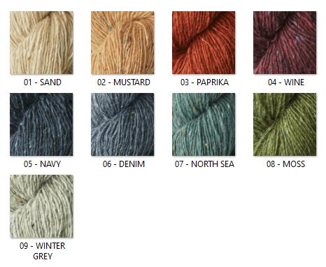 Colores lana tweed