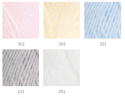 Colores lana para bebé