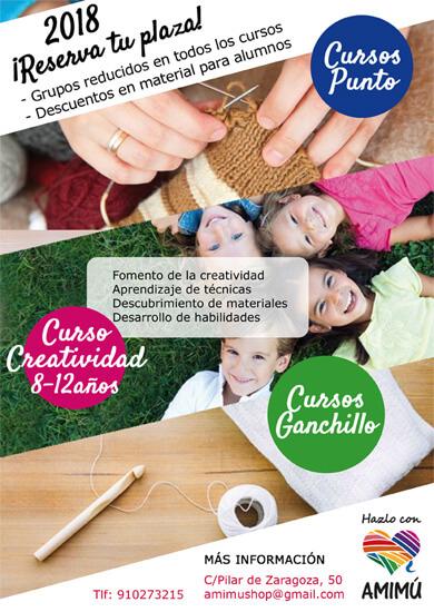 Aprender punto y ganchillo, cursos en Madrid