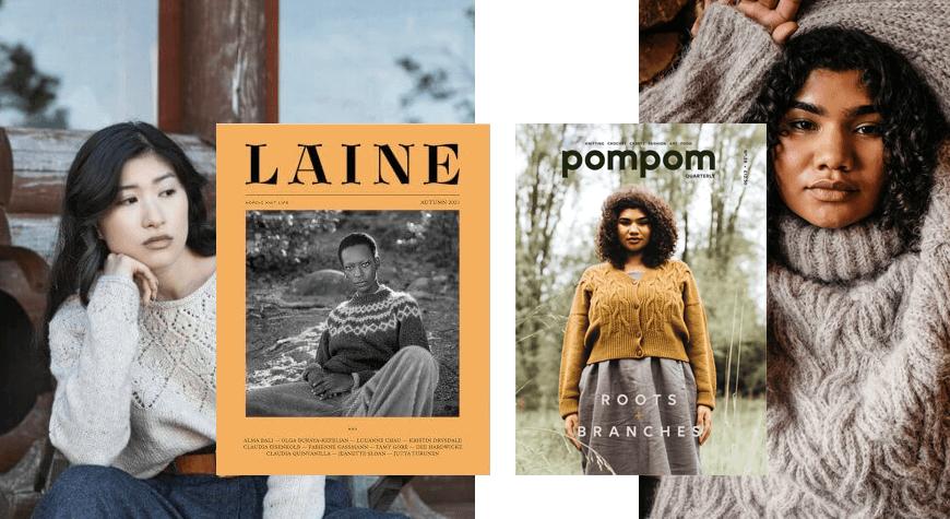 Laine y Pompom magazine